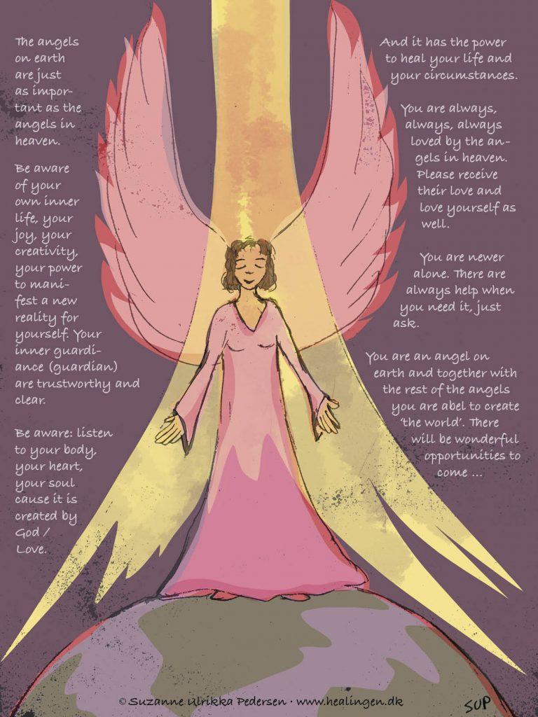 Kanaliseret billede med en jordisk engel